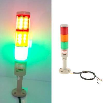 24V DC Industrial Red Green Yellow Signal Tower Alarm Warning Light #3