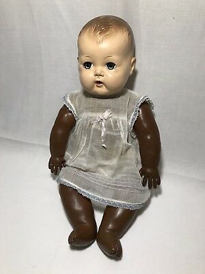 Vintage American Character Doll Sleepy Eyes Diaper Outfit Odd Discoloration Aged