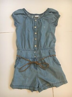 Guess Los Angeles Girls Denim Button Down Romper Size 12