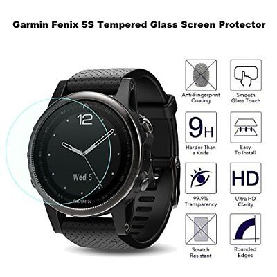 Fenix 5S Screen Protector Garmin Tempered Glass 9H Hardness Thickness 2 Pack New