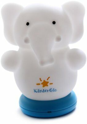 Kinderglo Portable Fun and Safe Rechargeable Night Light, Elephant FREE2DAYSHIP