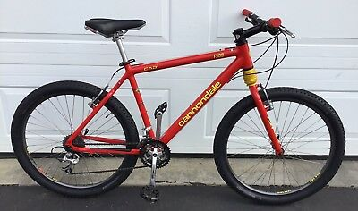 05a148c7556 Cannondale F500 Mens Mountain Bike Red Large Hardtail Headshock CAD2 NICE