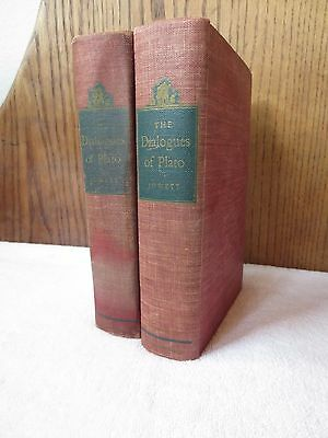 The Dialogues of Plato - Translated by B. Jowett - 2 Vol Set -1937 AS IS