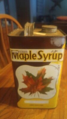 Michigan maple syrup tin. One Gallon