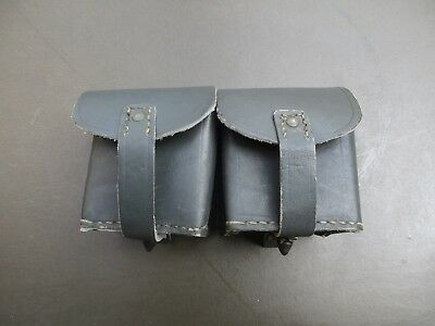 WWII Leather Ammunition Ammo Pouch for the Italian M1891 M38 Carcano Rifle Grey
