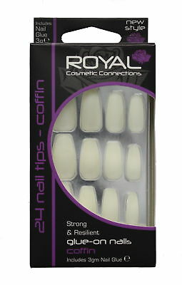 Royal 24 Glue-On Strong & Resilient Coffin Nail Tips