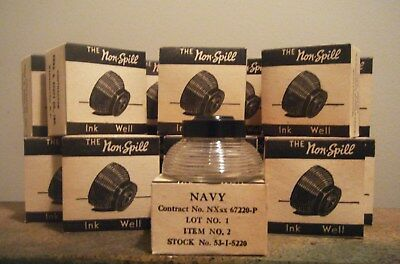 Vintage Wwii Us Navy Ink Well Non-Spill New Old Stock Preferred Products