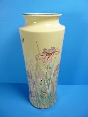 "1970's ""shibata"" Vintage Japan Porcelain Flower Vase, Marked,12 Inch Tall"