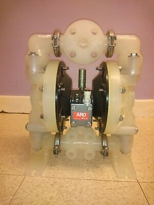 "Ingersoll Rand ARO 1"" Double Diaphragm Non Metallic Pneumatic Pump 6661A3-3EB-C"