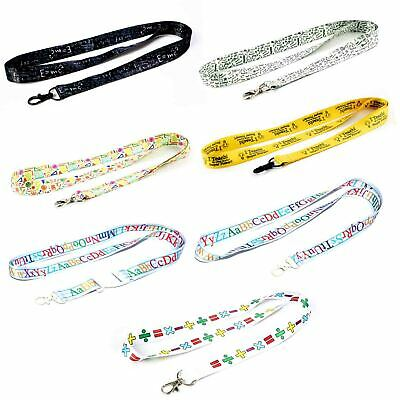 Teacher/student themed school lanyards/keychain with clips for keys or id badges