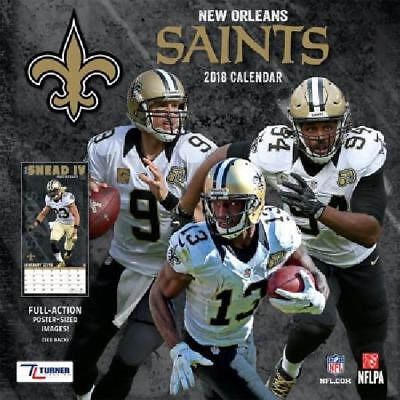 2018 New Orleans Saints Calendar, By Turner, 12x12 New Year