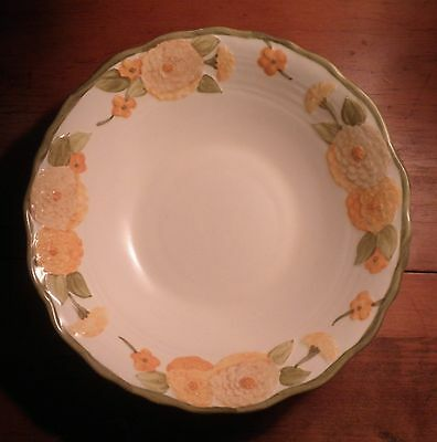 Vintage Metlox California Poppytrail Sculptured Zinnia Large Serving Bowl