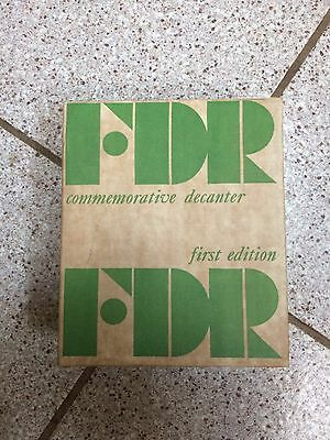 Vintage Nuline FDR First Edition Commemorative Decanter (New In Original Box)