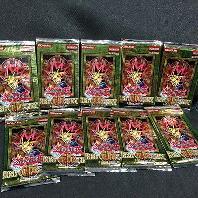 YGO - Lot of 10 x 1st Ed booster packs of Rise of Destiny