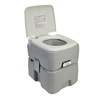 OZtrail Twin Flush Portable Toilet 20L Camping Outdoors