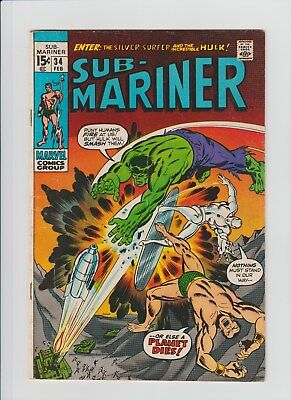Sub-Mariner #34 (Feb 1971, Marvel) VG/FN (5.0) 1st. Defenders Story !!!!!