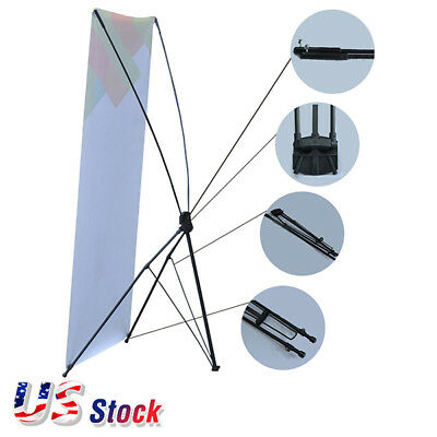 "US 24""W x 63""H Economy Aluminum Foot Tripod X Banner Stand Only  10pcs/pack"