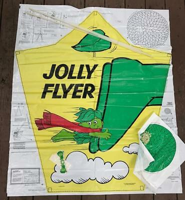 Vintage Jolly Flyer Sprout Green Giant Mail Away Kite w/ Factory Mailer