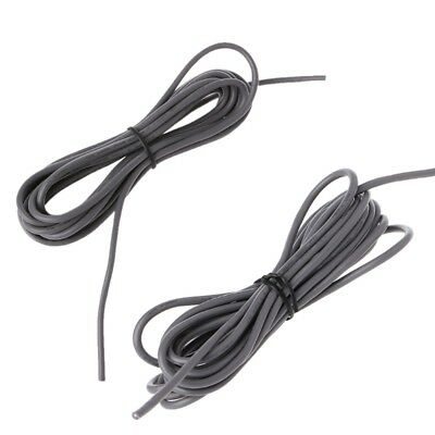 2-Conductor 26Awg Shielded Guitar Circuit Wire Pickup Lead Cable 9ft Length Grey