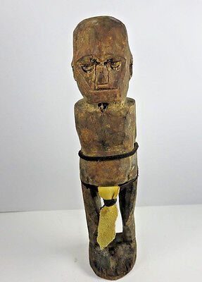 """Vintage Hand Carved Authentic Wood African Tribal Statue Totem Fertility Art 12"""""""