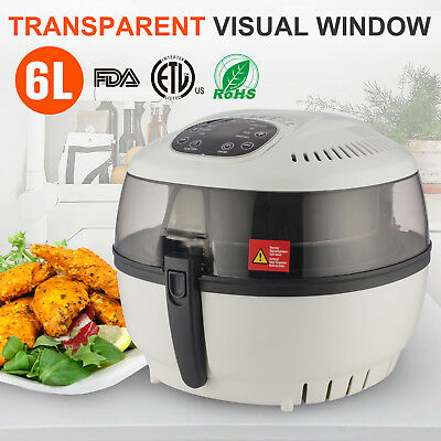 Electrical Digital Hot Air Fryer Oilless Griller Roaster W/8 Cooking Preset