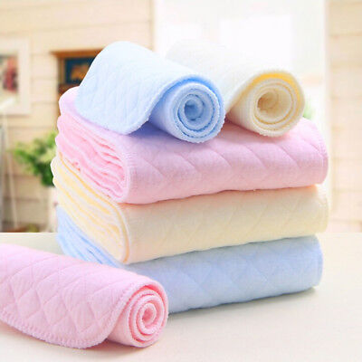 Reusable Washable bamboo Baby Cloth Diaper Nappy Liners inserts 3/6/9 Layers