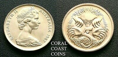 1967 Australian 5c Cent Coins straight from the RAM roll CHOICE Examples scarce