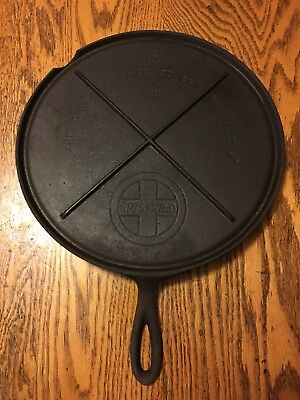 Vintage Griswold Cast Iron #10 Flat Griddle With Slant Logo 740 Erie