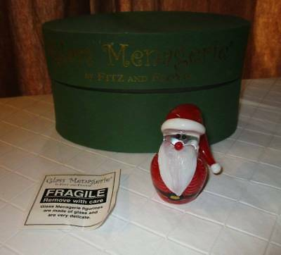 """Fitz & Floyd Glass Menagerie 2007 Santa weighted figure 2.5"""" 43/256  box holiday"""