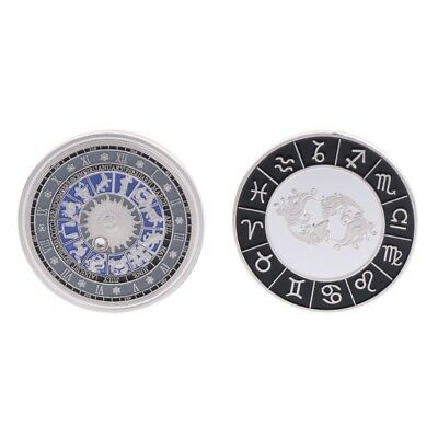 Silver Constellation Pisces Commemorative Coin Souvenir Arts Collection Gift