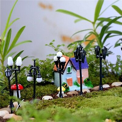 8pcs/ Lot Miniature Street Lights Set Fairy Garden Terrarium Bonsai Dollhouse