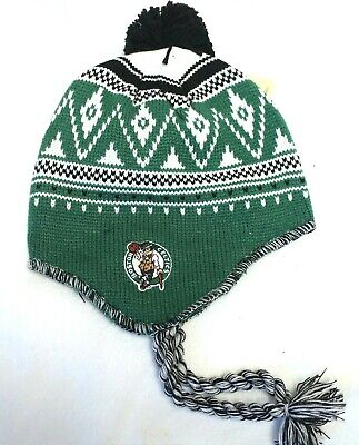 b6d6d93cf6a8b BOSTON CELTICS NBA Tassel Fashion Knit Beanie Hat Ski Cap Toque Black Pom  NWT