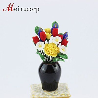 1:12 Scale Dolls house Miniature decoration Flower Beautiful and vase