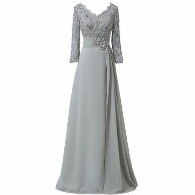 SILVER LONG SLEEVE Mother Of The Bride Dress Plus Size ...