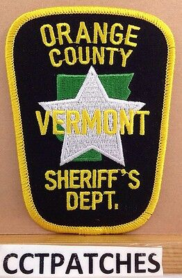 Orange County, Vermont Sheriff's Dept (Police) Shoulder Patch Vt