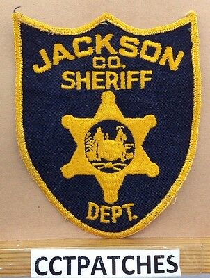 Jackson County, West Virginia Sheriff Orange/black (Police) Shoulder Patch Wv
