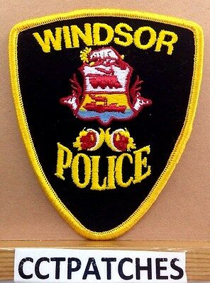 Windsor, Canada Police (Yellow) Shoulder Patch