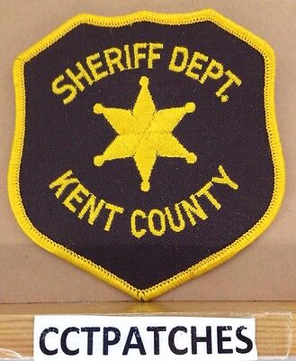 Kent County, Michigan Sheriff (Police) Shoulder Patch Mi