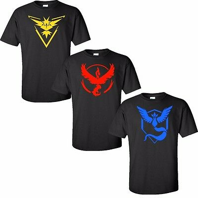 Pokemon Go Merchandise Team Valor Mystic Instinct Clothing Apparel Tee shirt