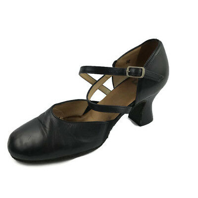 """LaDuca Black Cherie 2.5"""" Size 38 Character Dance Shoes Theatre Jazz Italy"""