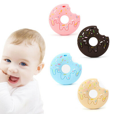 Baby Teether Silicone Cookie Donut Shape Teething Care Nursing Chew Newborn Toys
