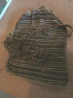 Authentic Pre Columbian Inca Chancay Fabric Bag, 500 Year Old Cloth