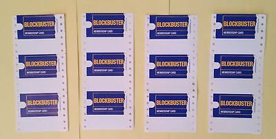 12 Blockbuster Video Membership Cards