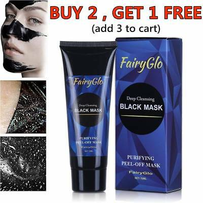 FairyGlo Charcoal Deep Cleansing Peel-Off Black Face Mask Blackhead Remover 70ml