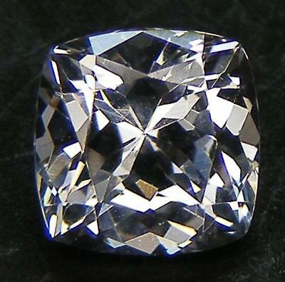 EXCELLENT CUT CUSHION 7x7 MM. WHITE SAPPHIRE LAB CORUNDUM