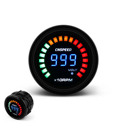 "2"" 52mm Auto Car Digital Smoked 0~10000 RPM Tachometer Gauge Meter 20 LED Light"