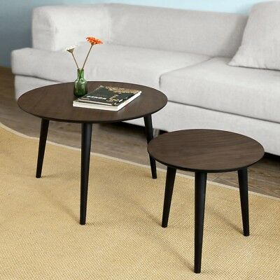 So Wooden Side Table Sofa Coffee With Cup Holders Fbt38 Wn Uk 1 029 95 Pic - Sofa Side Table With Cup Holder