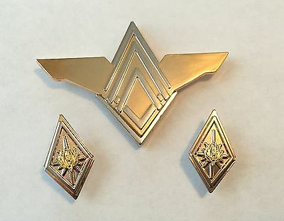 Battlestar Galactica (BSG) Colonel Rank Pin Set & Senior Officer Wings