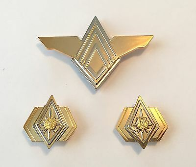 Battlestar Galactica (BSG) Admiral Rank Pin Set & Senior Officer Wings