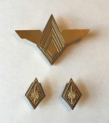 Battlestar Galactica (BSG) Commander Rank Pin Set & Senior Officer Wings